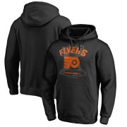 Wholesale Cheap Men's Philadelphia Flyers Black 2019 Stadium Series Blue Line Pullover Hoodie