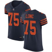 Wholesale Cheap Nike Bears #75 Kyle Long Navy Blue Alternate Men's Stitched NFL Vapor Untouchable Elite Jersey