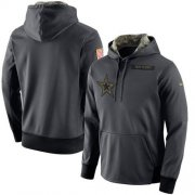 Wholesale Cheap Men's Dallas Cowboys Nike Anthracite Salute to Service Player Performance Hoodie