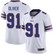 Wholesale Cheap Nike Bills #91 Ed Oliver White Men's Stitched NFL Vapor Untouchable Limited Jersey