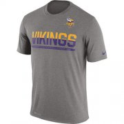 Wholesale Cheap Men's Minnesota Vikings Nike Practice Legend Performance T-Shirt Grey