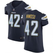 Wholesale Cheap Nike Chargers #42 Uchenna Nwosu Navy Blue Team Color Men's Stitched NFL Vapor Untouchable Elite Jersey