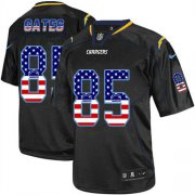 Wholesale Cheap Nike Chargers #85 Antonio Gates Black Men's Stitched NFL Elite USA Flag Fashion Jersey