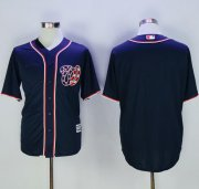 Wholesale Cheap Nationals Blank Navy Blue New Cool Base Stitched MLB Jersey