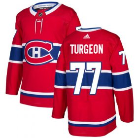 Wholesale Cheap Adidas Canadiens #77 Pierre Turgeon Red Home Authentic Stitched NHL Jersey