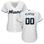 Wholesale Cheap Marlins Personalized Women's Home 2019 Cool Base White MLB Jersey (S-3XL)