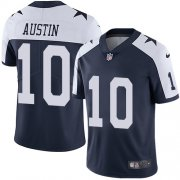 Wholesale Cheap Nike Cowboys #10 Tavon Austin Navy Blue Thanksgiving Men's Stitched NFL Vapor Untouchable Limited Throwback Jersey