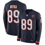 Wholesale Cheap Nike Bears #89 Mike Ditka Navy Blue Team Color Men's Stitched NFL Limited Therma Long Sleeve Jersey