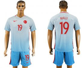Wholesale Cheap Turkey #19 Malli Away Soccer Country Jersey