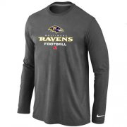 Wholesale Cheap Nike Baltimore Ravens Critical Victory Long Sleeve T-Shirt Dark Grey