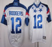 Wholesale Cheap Packers #12 Aaron Rodgers White 2012 Pro Bowl Stitched NFL Jersey