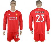 Wholesale Cheap Liverpool #23 Emre Can Home Long Sleeves Soccer Club Jersey