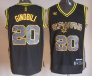 Wholesale Cheap San Antonio Spurs #20 Manu Ginobili Black Electricity Fashion Jersey