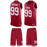 Wholesale Cheap Nike 49ers #99 DeForest Buckner Red Team Color Men's Stitched NFL Limited Tank Top Suit Jersey