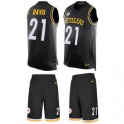 Wholesale Cheap Nike Steelers #21 Sean Davis Black Team Color Men's Stitched NFL Limited Tank Top Suit Jersey