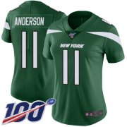 Wholesale Cheap Nike Jets #11 Robby Anderson Green Team Color Women's Stitched NFL 100th Season Vapor Limited Jersey