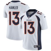 Wholesale Cheap Nike Broncos #13 KJ Hamler White Men's Stitched NFL Vapor Untouchable Limited Jersey