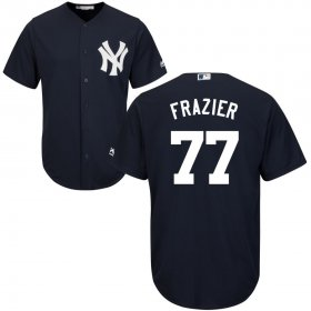 Wholesale Cheap New York Yankees #77 Clint Frazier Majestic Cool Base Jersey Navy