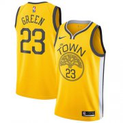 Wholesale Cheap Nike Warriors #23 Draymond Green Gold NBA Swingman Earned Edition Jersey
