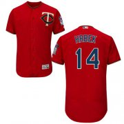 Wholesale Cheap Twins #14 Kent Hrbek Red Flexbase Authentic Collection Stitched MLB Jersey