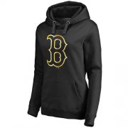 Wholesale Cheap Women's Boston Red Sox Gold Collection Pullover Hoodie Black