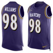 Wholesale Cheap Nike Ravens #98 Brandon Williams Purple Team Color Men's Stitched NFL Limited Tank Top Jersey