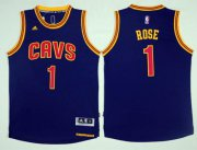 Wholesale Cheap Cleveland Cavaliers #1 Derrick Rose Navy Blue Alternate Stitched NBA Jersey