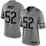 Wholesale Cheap Nike Bears #52 Khalil Mack Gray Men's Stitched NFL Limited Gridiron Gray Jersey