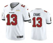 Wholesale Cheap Men's Tampa Bay Buccaneers #13 Mike Evans White 2021 Super Bowl LV Vapor Untouchable Stitched Nike Limited NFL Jersey