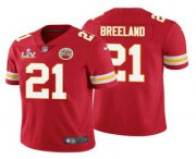 Wholesale Cheap Men's Kansas City Chiefs #21 Bashaud Breeland Red 2021 Super Bowl LV Limited Stitched NFL Jersey