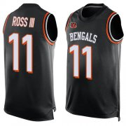 Wholesale Nike Bengals #15 John Ross Black Team Color Men's Stitched NFL Limited Tank Top Jersey