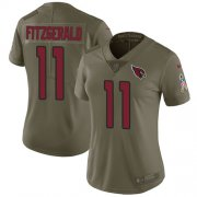 Wholesale Cheap Nike Cardinals #11 Larry Fitzgerald Olive Women's Stitched NFL Limited 2017 Salute to Service Jersey