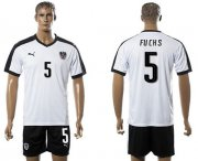 Wholesale Cheap Austria #5 Fuchs White Away Soccer Country Jersey