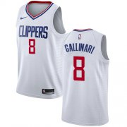 Wholesale Cheap Nike Clippers #8 Danilo Gallinari White NBA Swingman Association Edition Jersey