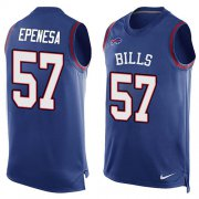Wholesale Cheap Nike Bills #57 A.J. Epenesas Royal Blue Team Color Men's Stitched NFL Limited Tank Top Jersey