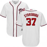 Wholesale Cheap Nationals #37 Stephen Strasburg White New Cool Base Stitched MLB Jersey