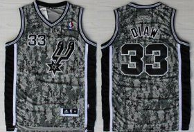 Wholesale Cheap San Antonio Spurs #33 Boris Diaw Revolution 30 Swingman Camo Jersey