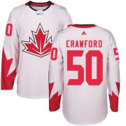 Wholesale Cheap Team Canada #50 Corey Crawford White 2016 World Cup Stitched Youth NHL Jersey