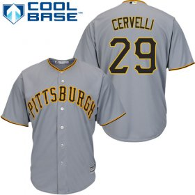Wholesale Cheap Pirates #29 Francisco Cervelli Grey Cool Base Stitched Youth MLB Jersey
