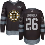 Wholesale Cheap Adidas Bruins #26 Par Lindholm Black 1917-2017 100th Anniversary Stitched NHL Jersey