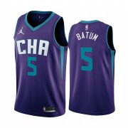 Wholesale Cheap Nike Hornets #5 Nicolas Batum Purple 2019-20 Statement Edition NBA Jersey