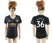 Wholesale Cheap Women's Manchester United #36 Darmian Away Soccer Club Jersey
