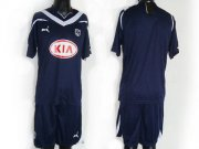 Wholesale Cheap Bordeaux Blank Dark Blue Home Soccer Club Jersey