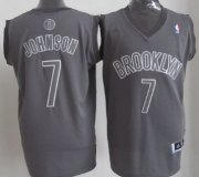 Wholesale Cheap Brooklyn Nets #7 Joe Johnson Revolution 30 Swingman Gray Big Color Jersey