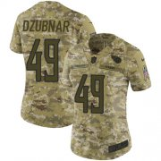 Wholesale Cheap Nike Titans #49 Nick Dzubnar Camo Women's Stitched NFL Limited 2018 Salute To Service Jersey
