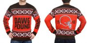 Wholesale Nike Browns Men's Ugly Sweater