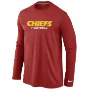 Wholesale Cheap Nike Kansas City Chiefs Authentic Font Long Sleeve T-Shirt Red