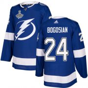 Cheap Adidas Lightning #24 Zach Bogosian Blue Home Authentic 2020 Stanley Cup Champions Stitched NHL Jersey