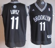 Wholesale Cheap Brooklyn Nets #11 Brook Lopez Revolution 30 Swingman Black Jersey