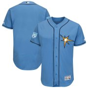 Wholesale Cheap Rays Blank Light Blue 2019 Spring Training Flex Base Stitched MLB Jersey